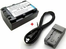Battery + Charger for NP-FV50 Sony HDR-PJ10 HDR-PJ20 HDR-PJ30 HDR-PJ40 HDR-PJ50