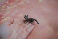 OOAK ago infeltriti A Mano Gattino Gatto Tigrato In Miniatura Fatto a Mano realistico Doll House 1:12