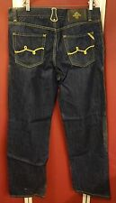 "LR Geans Men's Jeans Gold Rope Pocket Embroidered 38"" 34"" Urban Hip Hop NWOT LRG"