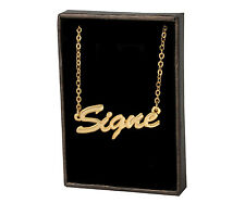 SIGNE 18ct Gold Plating Necklace With Name - Name Chain Thank You Personalized