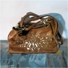 Imoshion, tan brown faux leather large sized fashion hand / shoulder bag