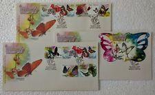 2008 Malaysia Butterflies Stamps & MS fdc Set in 3 Covers (KL Cachet)