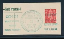 POLAND WW2 1944 POSTAGE STAMP JUBILEE TRIAL CANCEL on PIECE FIRST DAY...FPO