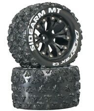 "Duratrax Sidearm MT 2.8"" 2WD Mounted Tires / Wheels Rear C2 (2) Rustler Stampede"