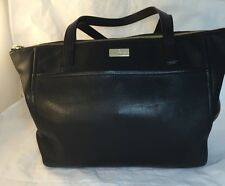 Kate Spade Women's Black Pebbled Leather Should Zipper Tote Bag Pink Lined ns614