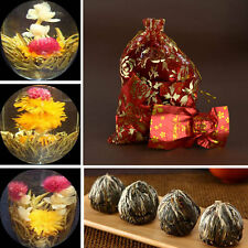 New 10pcs Tied Handmade Blooming Jasmine Flower Flowering Green Tea Ball Herb