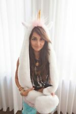 Unicorn Hood Unicorn Hat Unicorn Scarf Soft Hoodie Scarf Hat Warm Head Cover
