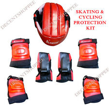 SKATE & CYCLING  PROTECTION KIT with Helmet, Knee, Elbow Guards, & Gloves