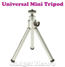 Universal Mini Tripod With 360° Rotating & Tilting Head Extendable Legs Silver