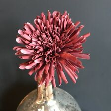 Dusty Pink Faux Silk Dahlia. Artificial Dusky Pink Spring Flowers