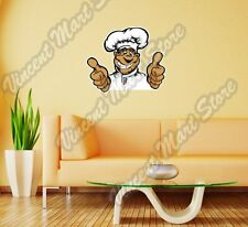 "Restaurant Chef Cook Happy Smiling Face Wall Sticker Room Interior Decor 25""X20"""