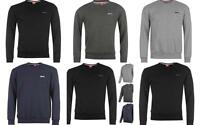 Slazenger Mens Sweatshirt Crew Neck Fleece Jumper Charcoal Grey Navy Black
