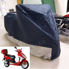Waterproof Motorcycle Cover Sheet Motorbike Moped Scooter Rain Large Size