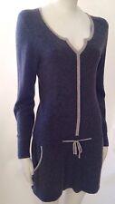 Vintage Chanel Gray Cashmere Tunic Sweater Mini Dress