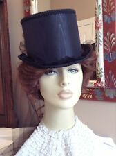 BLACK TOP HAT VICTORIAN CIVIL WAR RIDING GOTHIC STEAMPUNK COSPLAY CAS MILLINERY