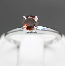 Rare Natural Cognac Diamond Engagement 14k Gold Ring (.44cts 4.86mm) $1550 Value