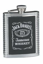 Jack Daniels Stainless Steel Ribbed Flask ~ NEW!