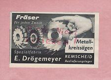 REMSCHEID, Werbung 1936, E. Drögemeyer Spezialfabrik Metall-Kreissägen