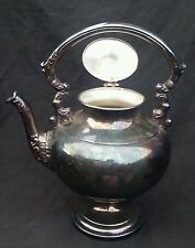 Antique Crosby silverplate Silver on Copper coffee pot