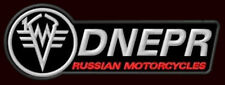 "DNEPR RUSSIAN MOTORCYCLES EMBROIDERED PATCH ~5-3/8"" x 2"" K750 MT-9 MT-11 MT-16"