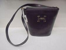 BORSA IN PELLE A SECCHIELLO MARRONE - Leather bag bucket - Sac cuir seau A SALDO