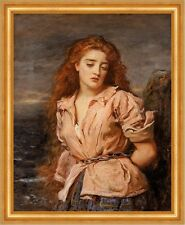 The Martyr of the Solway John Everett Millais Frau Ketten Gefesselt B A3 02629
