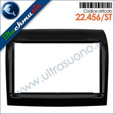 Mascherina supporto autoradio 2DIN Fiat Ducato 3 (rest. dal 2011) nero lucido