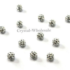 Crystal (001) clear Swarovski Elements 86001 4mm Pave Ball Beads 2 pcs