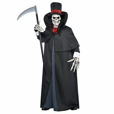 BN Mens Adults Dapper Death Grim Reaper Ghoul Mask Costume L/XL with FREE Scythe