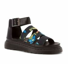NEW DR MARTENS CLARISSA CHUNKY STRAP SANDAL, black hawaiian floral 7UK/ 9US $129