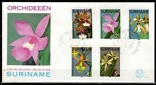 Suriname - 1976 Orchids - Mi. 710-14 clean FDC