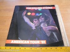 The Rolling Stones 1981 American tour program tourbook Mick Jagger