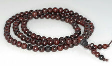6mm 108PCS Red Rosewood Prayer Buddha Japa Mala Meditation Loose Beads Round 25""