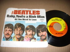 """The Beatles """"Baby, You're A Rich Man / All You Need Is Love"""" Pic Slv. 1967   NM"""