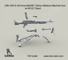 Live Resin 1/35 LRE-35015 US Army M240B 7.62mm Medium Machine Gun on M122 Tripod