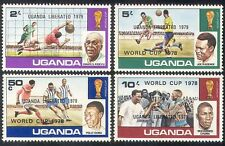 Uganda 1979 Football World Cup/WC/Soccer/Sports/Games/Overprint 4v set (n40264)