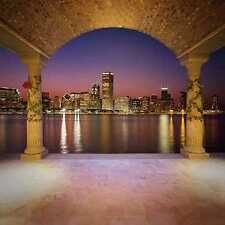 Beautiful night view 8'x8'CP Backdrop Computer Printed Scenic Background zjz-556