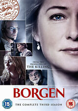 BORGEN Series 3 (DVD, 2013, 3-Disc Set) R2 PAL DVDS ONLY!!!!!!
