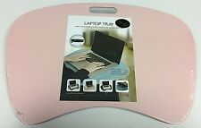 Pink Portable Cushioned Laptop Computer Writing Homework Lap Tray Desk Table