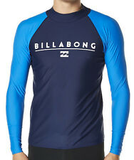 "NEW +TAG BILLABONG MENS (XXL) ""FRONT"" WETSHIRT RASH VEST RELAXED FIT LONG SLEEVE"
