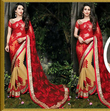 Bollywood Designer Sarees- Red Bridal Heavy Work Party Wear Wedding Saree