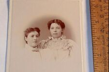 Two WOMEN - Vintage CABINET Photo - E.O. Holler, WILLOW CITY, N.D., photographer