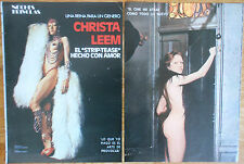 CHRISTA LEEM 4 page 1976 nude article sexy vintage clippings magazine