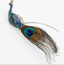 one Blue Green Fashion Retro Vogue Punk vintage style peacock eye feather ring