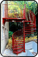 2100mm Internal or External Spiral Fire Escape - Cat C UK regs BS5395 compliant