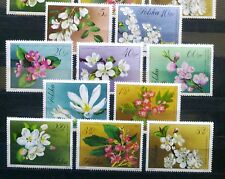 POLAND STAMPS MNH Fi1985-94 Sc1860-69 Mi2132-41 - Flowers of trees, 1971, clean
