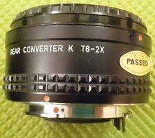 ASAHI PENTAX T6 2X REAR CONVERTER K fit 34575 in case