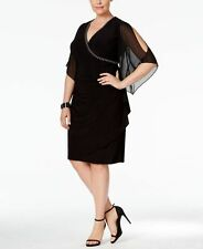 Msk Plus Size Embellished Surplice A-Line Dress Size 20W