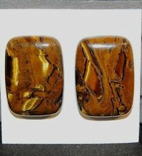 Tiger Iron 25x18mm Free Form pair of Cabochons  (8467)