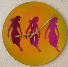 PIERCE THE VEIL inspired record wall clock..popart..spray paint art..recycled